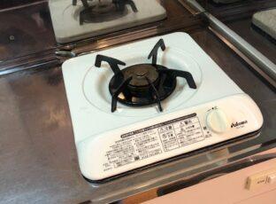 2019.10月世田谷区 アパート退去後のハウスクリーニング キッチンのコンロ清掃